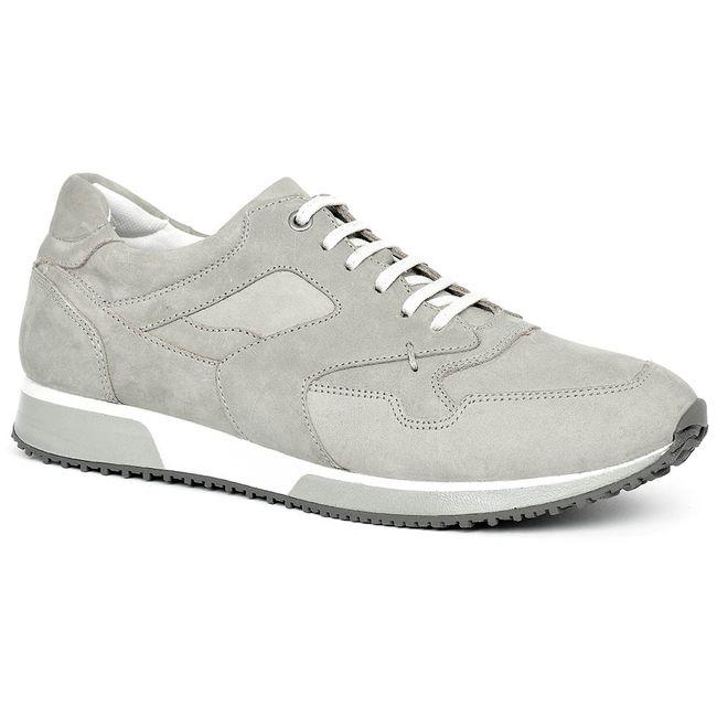 1310b7426 Sapatenis Anatomic Gel 2320 Nobuck Prata - Melhor do Sapato